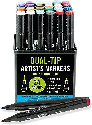 Studio Series Dual-tip Alcohol Markers: Set di 24