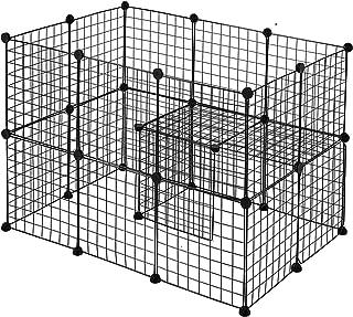 comprar comparacion Youke Parque para Perros, Productos para Mascotas Cerca de jardín de Alambre metálico, Negro (24 Paneles)