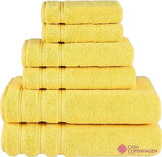 Denmark Soft Linen Premium, 6 Piece Kitchen and Bathroom Egyptian Cotton Towel Set [Worth $72.95] -
