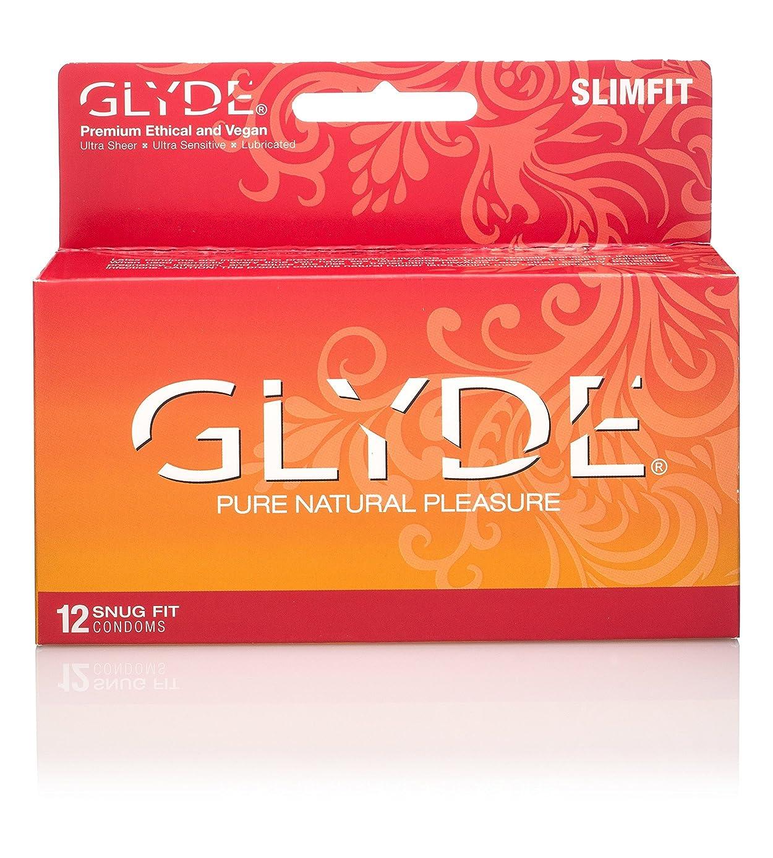 GLYDE Slimfit Premium Small Condom - 12 Snugger Fit Condoms : Australia's #1 Natural Condom