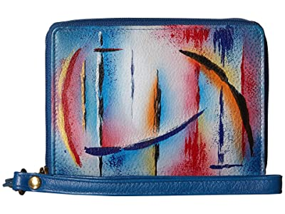 Anuschka Handbags 1143 RFID Blocking Zip-Around Clutch Wallet (Northern Skies) Handbags