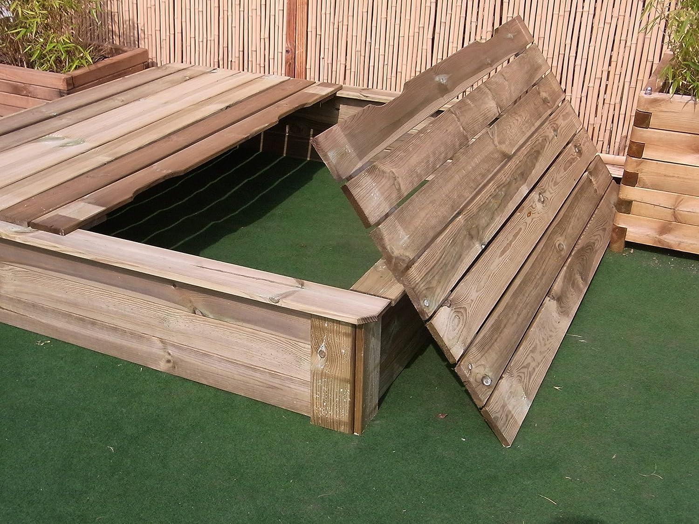 BIHL Sandkasten Deckel 8 x 8 cm Holz Sandbox Sandkiste ...