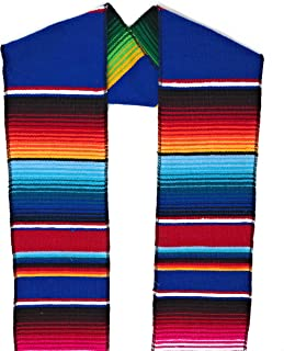 Authentic Mexican Serape Stole Sash For Graduation by Mexitems (Pick Your Color)
