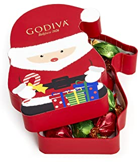 Godiva Chocolatier Christmas Santa Gift Box with 8pcs Individually Wrapped Chocolate Truffles