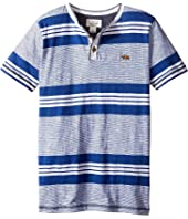 Lucky Brand Kids - Short Sleeve Jetty Henley in Slub Jersey (Big Kids)