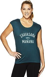 Gaiam Women's Dani Yoga Short Sleeve T-Shirt - Workout Top Women