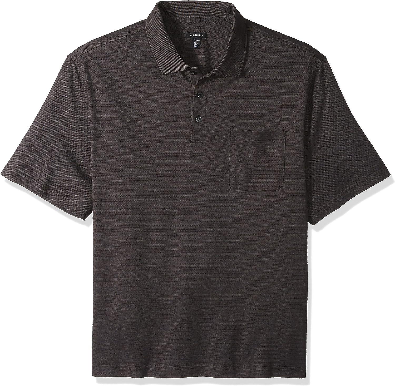 Van Heusen Men's Big and Tall Jacquard Short Sleeve Polo