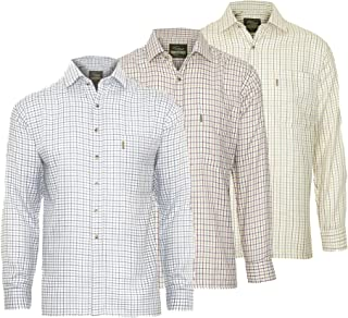 Champion Mens Tattersall Check Long Sleeve Shirt (Pack of 3)