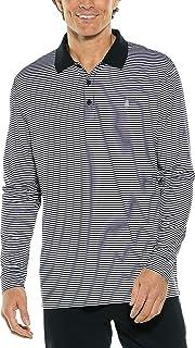 Coolibar UPF 50+ Men's Long Sleeve St. Andrews Golf Polo - Sun Protective