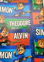 Alvin and The Chipmunk Wrapping Wrap Paper 2-Sheets Party Gift Decoration Birthday