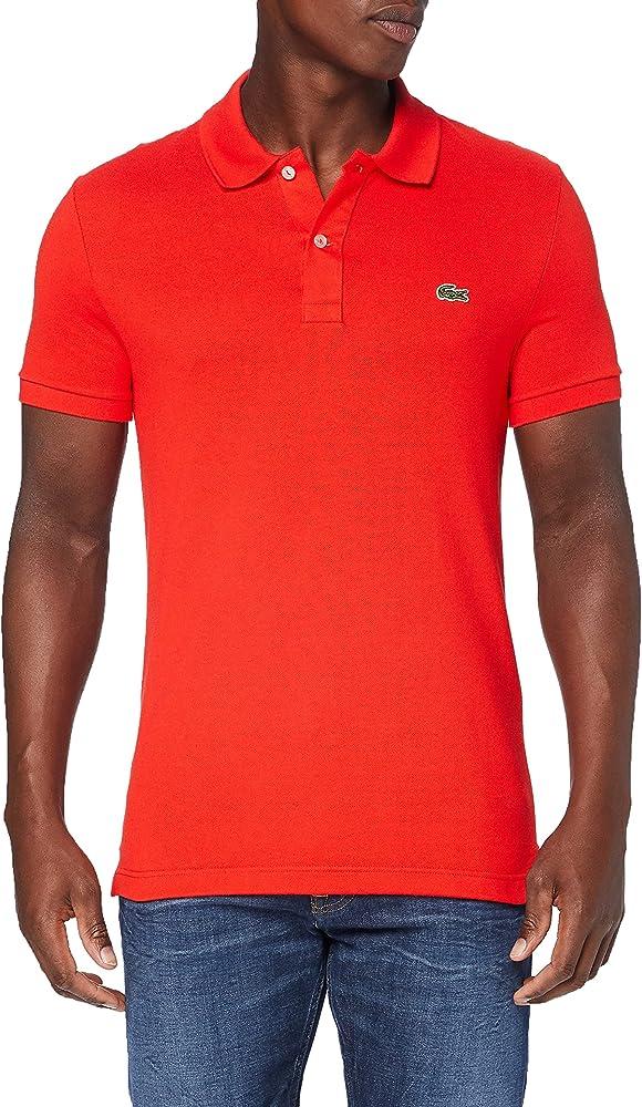 Lacoste polo maglietta da uomo a maniche corte 100% cotone PH4012