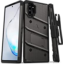 ZIZO Bolt Series Samsung Galaxy Note 10 Plus Case | Heavy-Duty Military-Grade Drop Protection w/Kickstand Included Belt Clip Holster Lanyard (Metal Gray/Black)