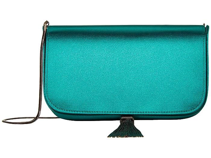 REISS  Vienna Crossbody (Emerald Satin) Handbags