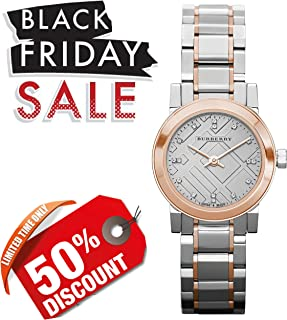 Burberry Heritage Grey Dial Two-Tone Stainless Steel Ladies Watch BU9214