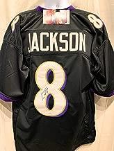 Lamar Jackson Baltimore Ravens Signed Autograph Black Custom Jersey JSA Witnessed Certified