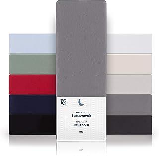 Blumtal - Drap Housse 160x200 Coton (x2) - Drap Housse Jersey 160x200 cm - 100% Coton - Jusqu'à 25cm De Hauteur - Gris