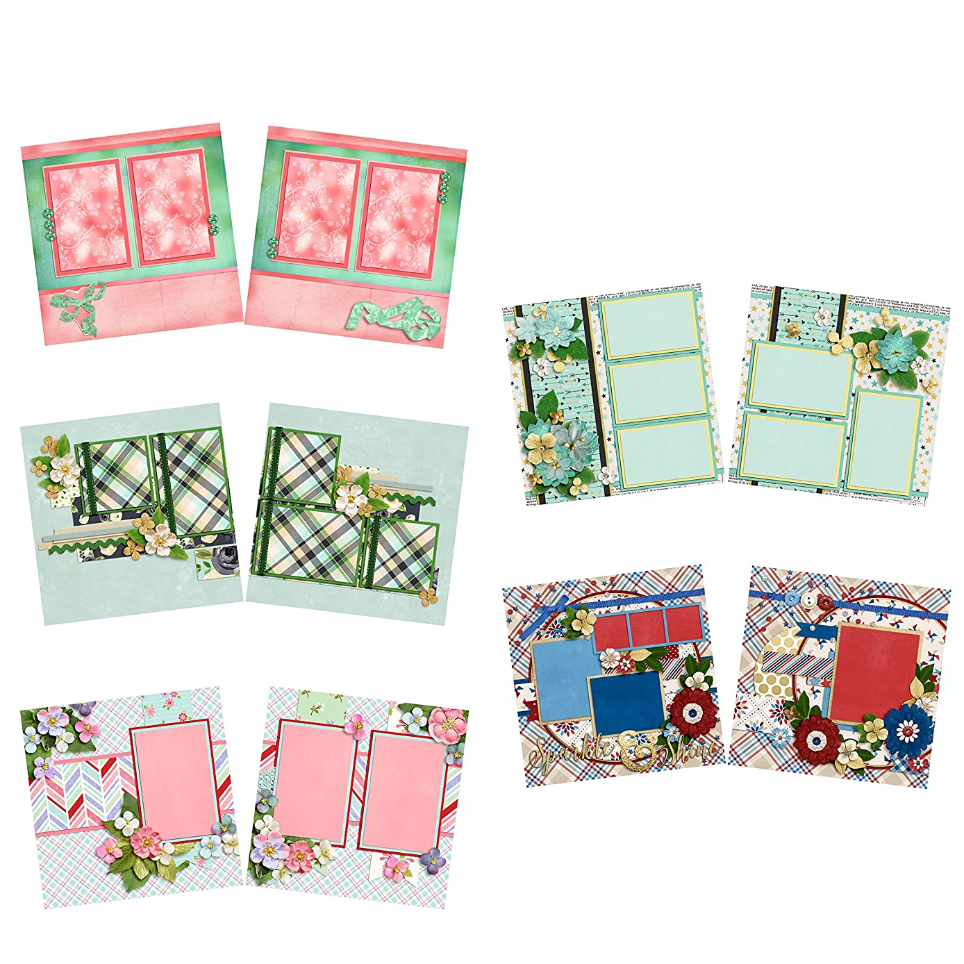 Who's That Girl - Heritage - Scrapbook Set - 5 Double Page Layouts