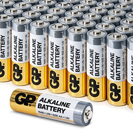AA Battery Value Pack by GP | High-Performance 1.5V AA Alkaline Batteries (Box of 48)