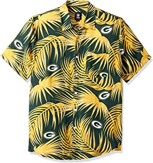 NFL Mens Floral Tropical Button Up Shirt