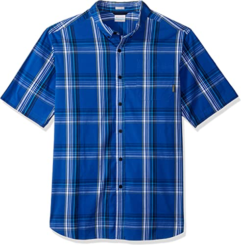 Columbia Hommes's Rapid Rivers II Big & Tall manche courte Shirt, bleu Plaid, LT