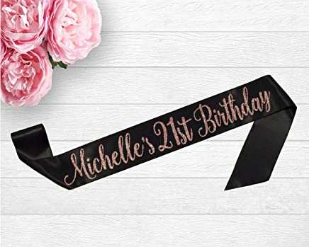 Amazon com: 18th birthday sash - Home & Kitchen: Handmade