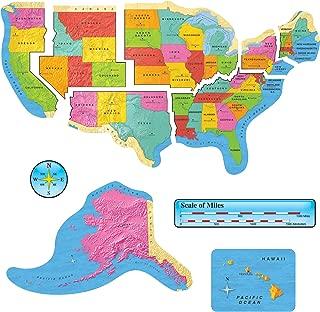 TREND enterprises, Inc. T-8160 United States Map Bulletin Board Set