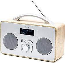 "Smith-Style Coppice DAB+ FM DAB Digital Radio Portable Radio with 2.8"" LCD Screen - DAB Radio/FM Radio/Battery & Mains Pow..."
