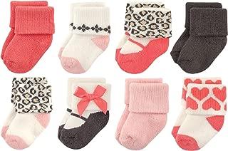 Luvable Friends Baby 8 Pack Newborn Socks, Leopard, 0-6 Months