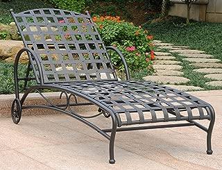 International Caravan Iron Multi-Position Patio Chaise Lounge