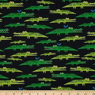 Cloud 9 Fabrics Organic Ed Emberley Favorites Alligators Blue/Green