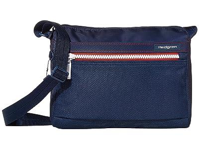 Hedgren Eye RFID Shoulder Bag (Active Blue) Shoulder Handbags