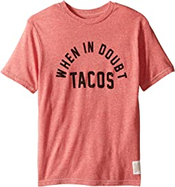 The Original Retro Brand Kids When in Doubt Tacos Short Sleeve Tri-Blend Tee (Big Kids)