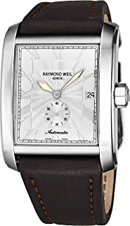 e90b3467e Raymond Weil Don Giovanni Mens Square Automatic Watch - Silver Face with  Luminous Hands, Date