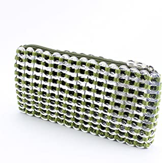 Metallic Clutch, Chica Rosa, Eco Fashion from Brazil Made of Recycled Pop Tops