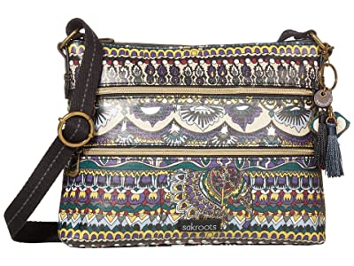 Sakroots Artist Circle Basic Crossbody (Multi One World) Cross Body Handbags