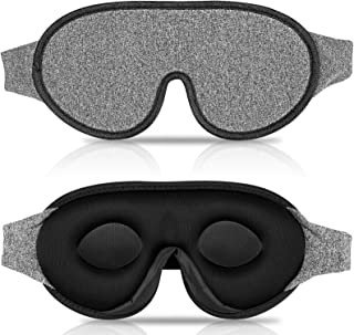 IDENTIL 3D Sleep Mask for Men Women, 100% Blackout Eye Mask for Sleeping with Adjustable Strap, Comfy and Breathable Sleep...