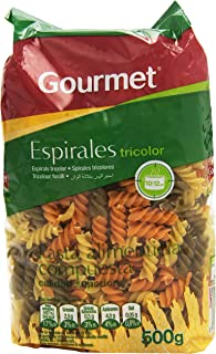 Gourmet Espirales Tricolor Pasta Alimenticia Compuesta - 500