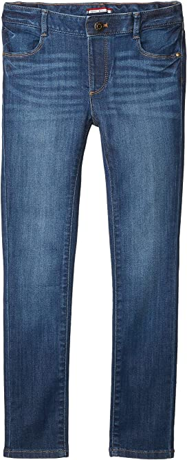Tommy Hilfiger Girls Big Adaptive Jegging Jeans with Elastic Waist and Adjustable Hems