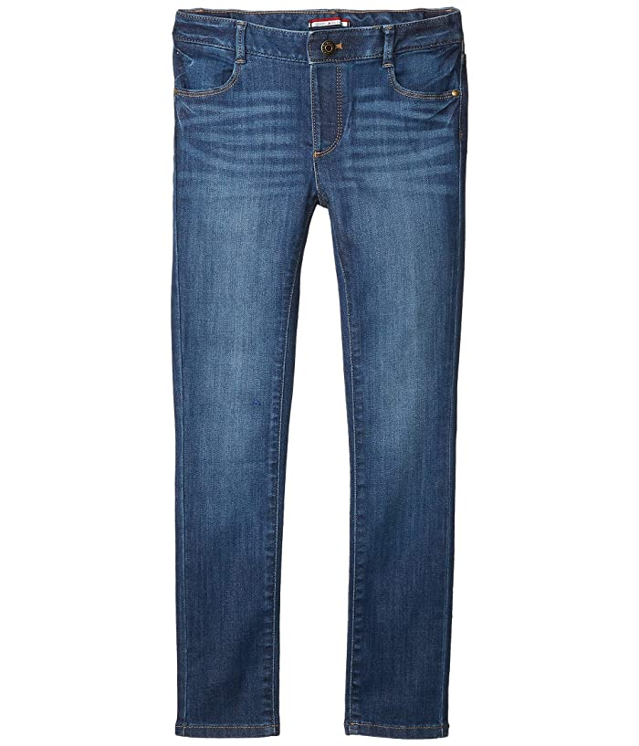 Tommy Hilfiger Adaptive  Skinny Jeans in Toni Wash (Toddler/Little Kids/Big Kids) (Toni Wash) Womens Jeans