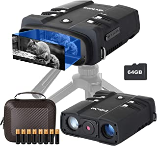 Image of ESSLNB Night Vision Binoculars 1080P Image 3.6-10.8X31mm Night Vision Goggles with 64G TF Card 4' LCD Infrared Binoculars with Night Vision Taking Photos Videos Playback Function