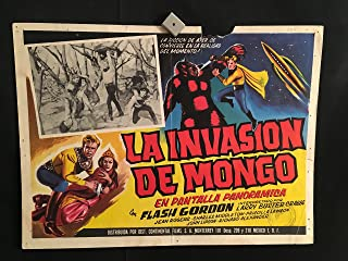 Flash Gordon 1960R Original Vintage Mexican Lobby Card Movie Poster, Buster Crabbe, Jean Rogers, Charles Middleton