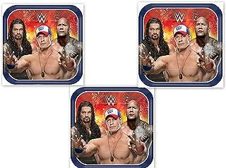 Wrestling WWE Cena Plates Cake Party Decoration x24 Favors