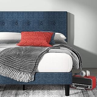 ZINUS Omkaram Upholstered Platform Bed Frame / Mattress Foundation / Wood Slat Support / No Box Spring Needed / Easy Assem...