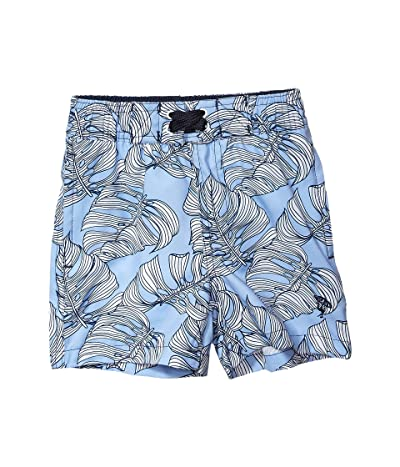 shade critters Leaf Print Swim Trunks (Infant/Toddler) (Blue) Boy