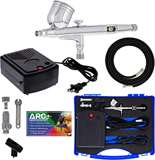 Master Airbrush Airbrushing System Kit with a G23 Multi-Purpose Gravity Feed Dual-Action Airbrush with 1/3oz. Cup and 0.3m...