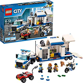 LEGO City Police Mobile Command Center Truck 60139 Building Toy, Action Cop Motorbike and ATV Play Set for Boys and Girls ...