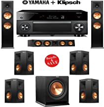 Klipsch RP-280F 7.1 Reference Premiere Home Theater System with Yamaha AVENTAGE RX-A3060BL 11.2-Ch Network A/V Receiver