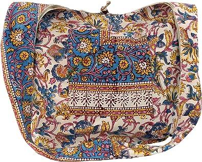 GURU SHOP Sadhu Bag, Umhängetasche, Blockdruck Hippie Schultertasche - Rot/weiß, Herren/Damen, Baumwolle, Alternative Umhängetasche, Handtasche aus Stoff
