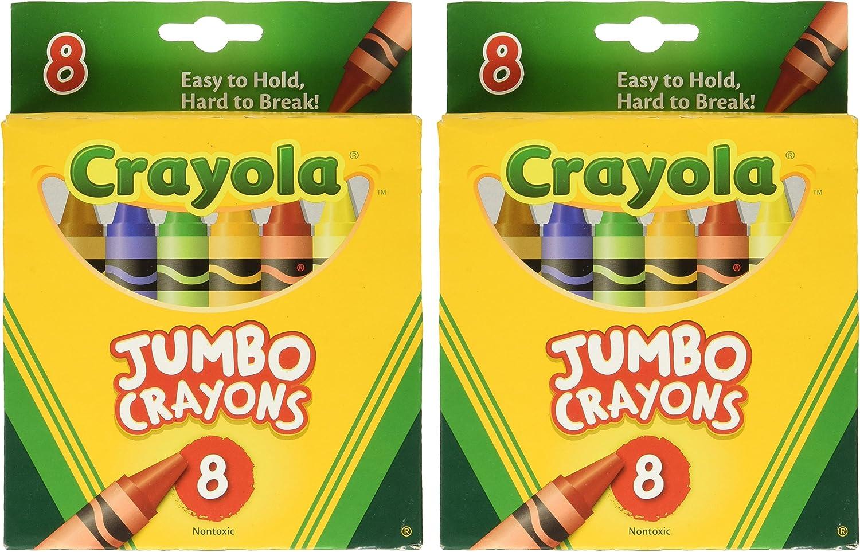 Crayons Jumbo 8ct Peggable Tuck Box [Set of 2]