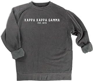Comfort Colors Kappa Kappa Gamma est. 1870 Sweatshirt   Sorority Sweatshirt